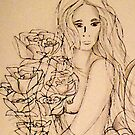 Lady with Roses (Shades of Grey) by Leni Kae