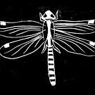 linoprint dragonfly by tmoriginals