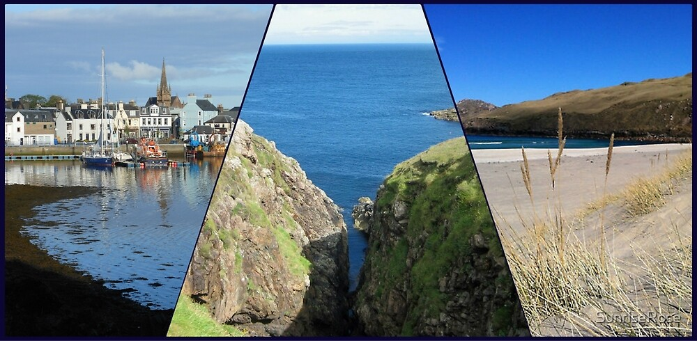 Hebridean Blue  - Western Isles Collage by SunriseRose