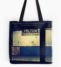 The Subway, poetry and picture. Tote Bag