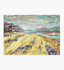 Sandy beach in Aberdyfi / Aberdovey, Wales, UK Photographic Print