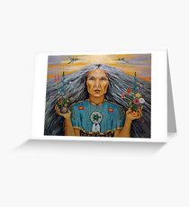 East - Spiritual Visionary oil painting Greeting Card