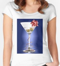 Christmas Martini T-Shirt Women's Fitted Scoop T-Shirt