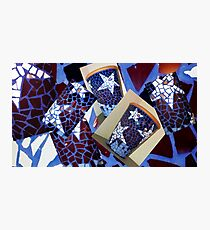 Mosaic pots Photographic Print