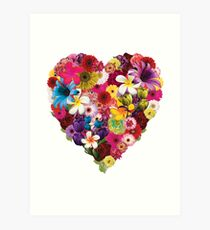 Flowered Heart Art Print