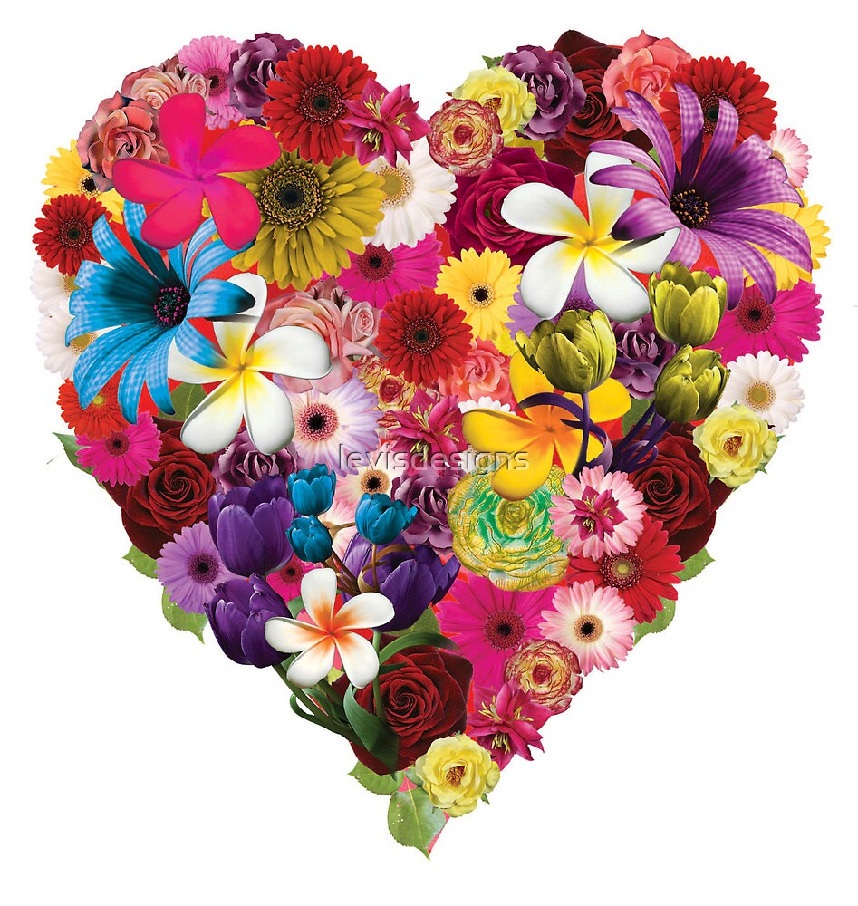 Flowered Heart by levisdesigns