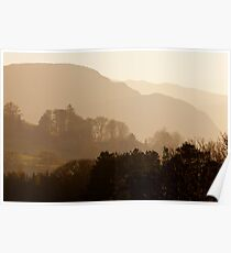 View East Over The Lakeland Fells, Near Grange, Cumbria Poster