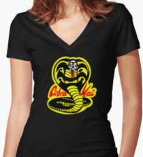 Cobra Kai Women's Fitted V-Neck T-Shirt
