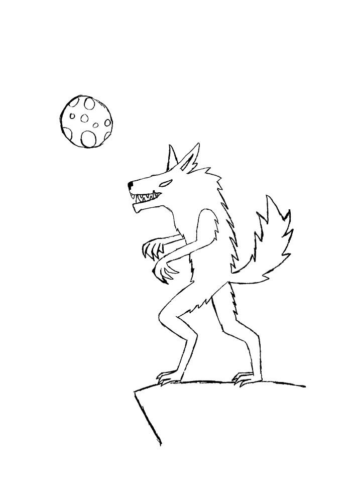 Were-wolf sketch by Spacey-Wolf