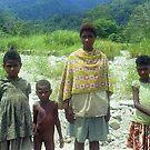 New Guinea Family near Lae  by Bev Pascoe