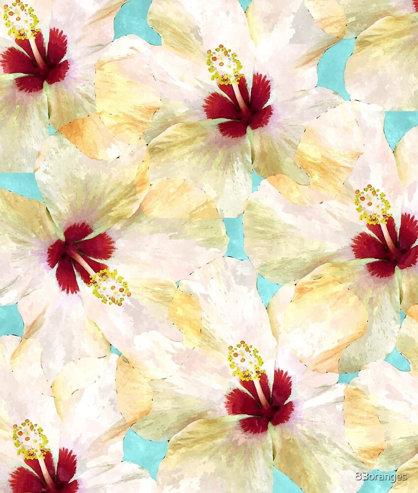 Hibiscus on Steroids #redbubble by 83oranges