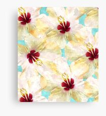 Hibiscus on Steroids #redbubble Canvas Print