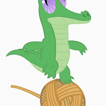 Fluttershy's Pet Alligator, Gummy! by Marmbo