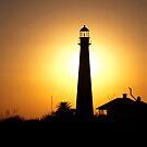 Sunset Lighthouse by Debra Fedchin