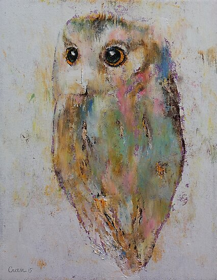 Owl Painting by Michael Creese