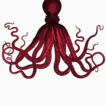 Red Octo Tee by FutureMan