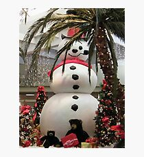 Frosty At The Mall Photographic Print