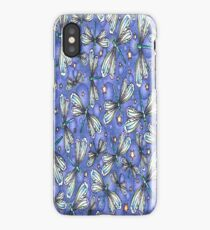 Glitter Dragonflies Blue iPhone Case iPhone Case