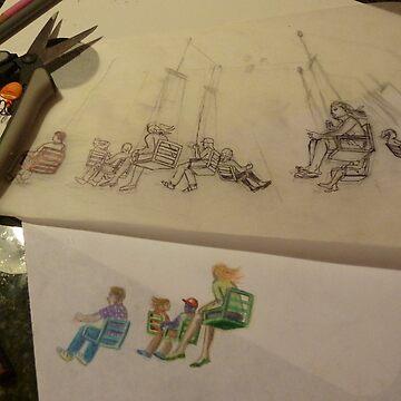 Swingers and Swings, work in progress #2 by SallySargent