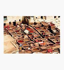 Fes Tanneries Photographic Print