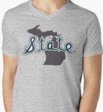 Script State over Michigan V-Neck T-Shirt