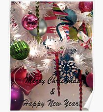 Ornaments Christmas Card Poster