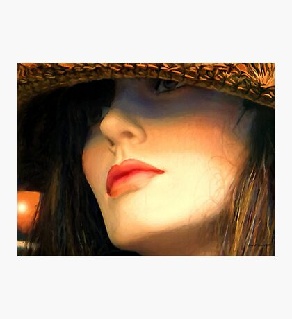 Straw Hat Photographic Print