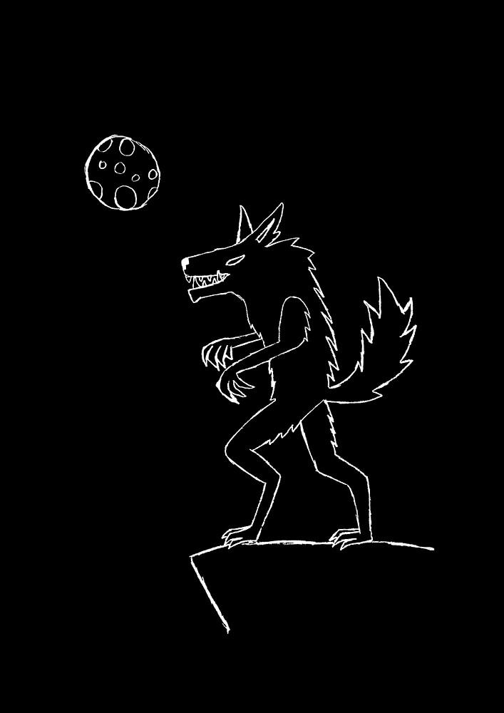Were-wolf sketch White by Spacey-Wolf