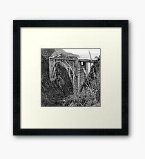The Famous Bixby Bridge in Black and White Framed Print