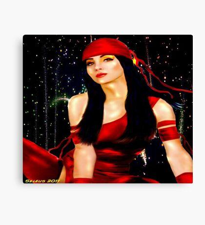 Red Ninja Canvas Print