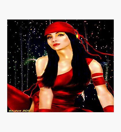 Red Ninja Photographic Print