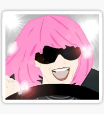 Pink Hair Don't Care Sticker