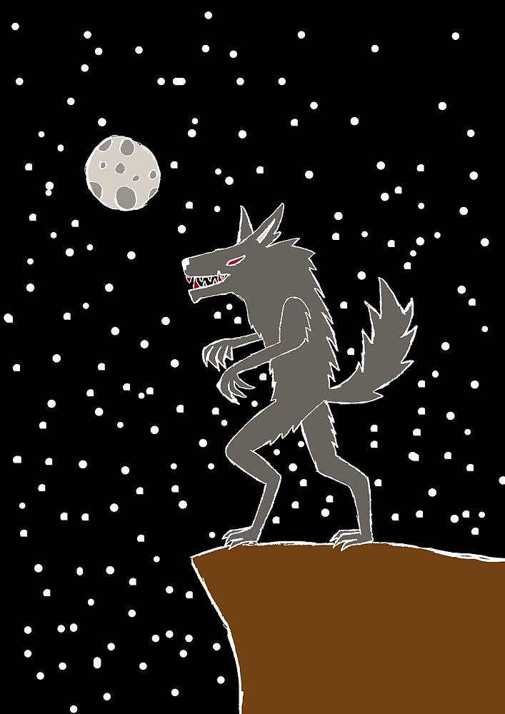 White Were-wolf coloured by Spacey-Wolf