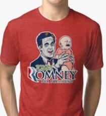 Zombie Romney For President Tri-blend T-Shirt
