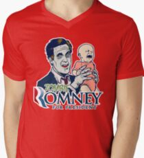 Zombie Romney For President Men's V-Neck T-Shirt