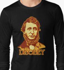 Henry David Thoreau Disobey Long Sleeve T-Shirt