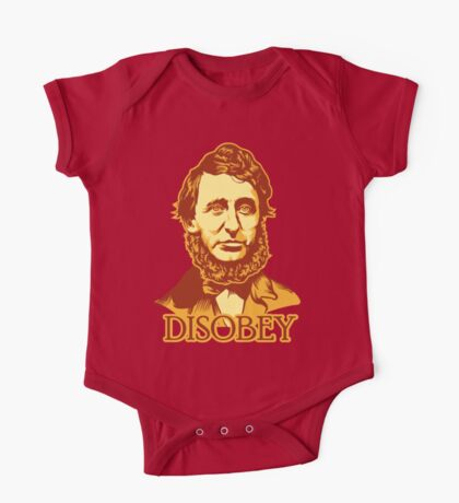 Henry David Thoreau Disobey Kids Clothes