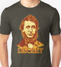 Henry David Thoreau Disobey Unisex T-Shirt