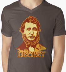 Henry David Thoreau Disobey Mens V-Neck T-Shirt