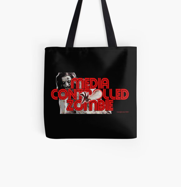Media Zombies All Over Print Tote Bag