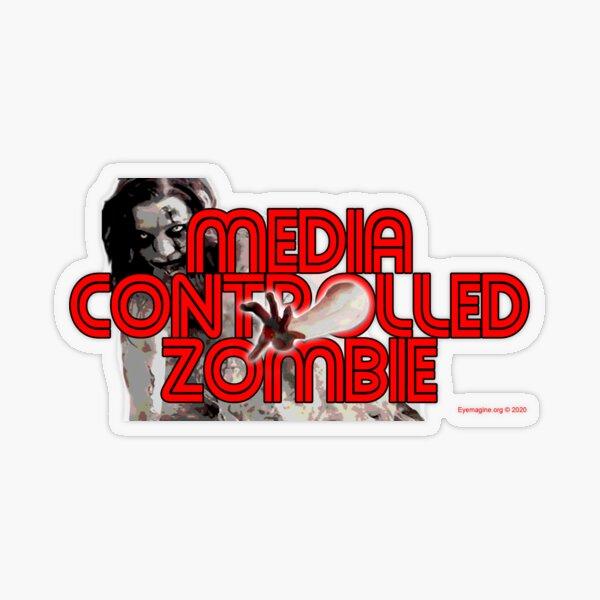 Media Zombies Transparent Sticker