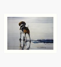 Beagle Reflections Art Print