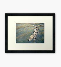 Dalmatian In The Sky Framed Print