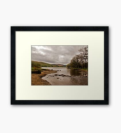 Looking Down Semer Water Framed Print