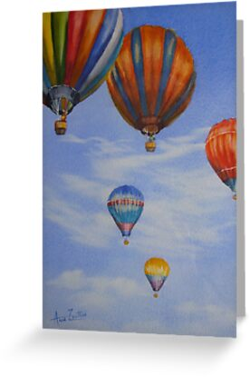 Hot Air Balloons by Anne Zoutsos