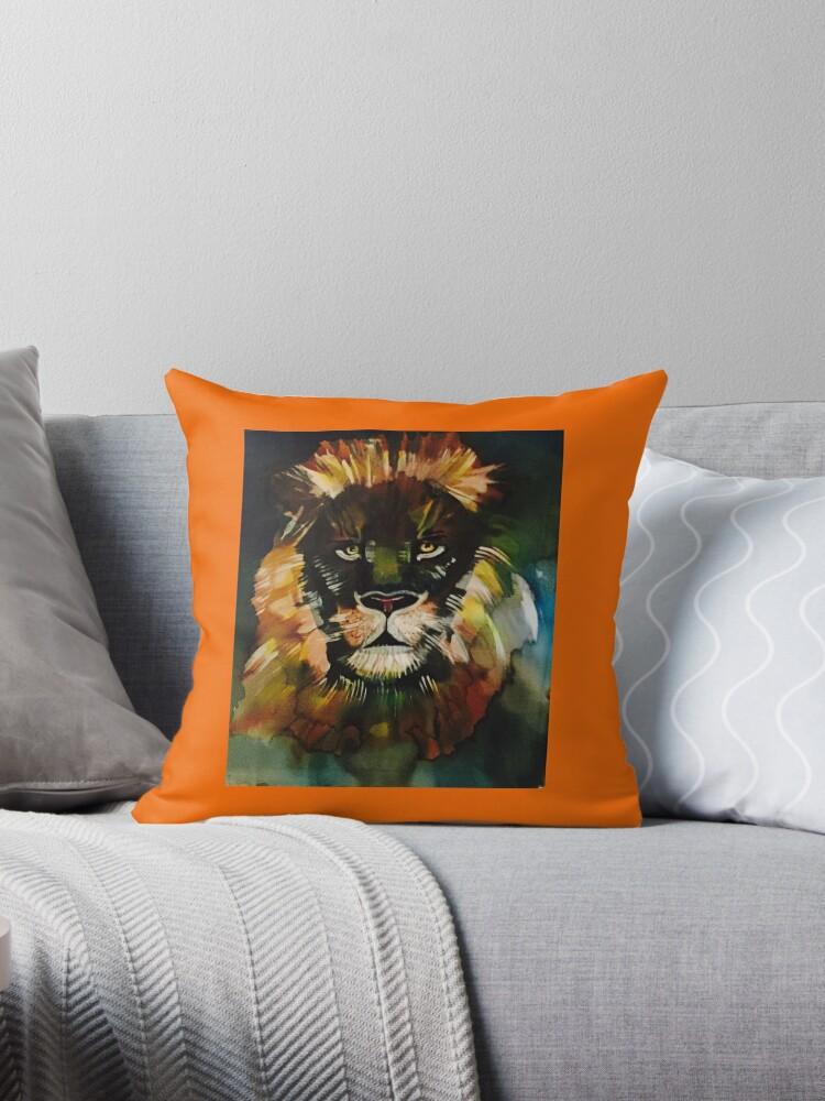 Orange lion by Pipsilk