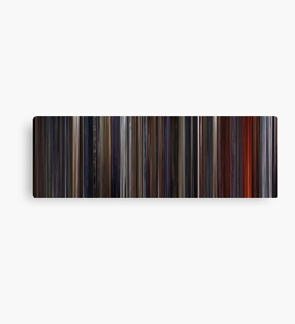 Moviebarcode: Star Wars: Episode III - Revenge of the Sith (2005) Canvas Print