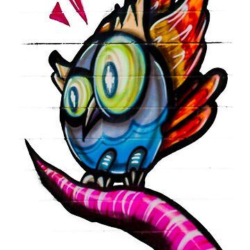 Owl Street Art by vanWriten