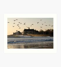 Narragansett Towers Morning Walk Art Print