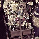 Santa's Toy Wagon by Glenna Walker